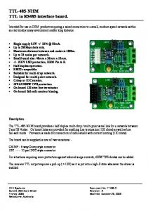 TTL-485-NHM TTL to RS485 interface board