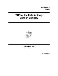 TTP for the Field Artillery Cannon Gunnery