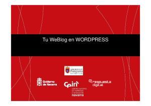 Tu WeBlog en WORDPRESS