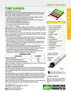 TUBE GUARDS PRODUCT DATA SHEET LIGHTING PRODUCTS