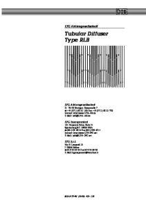 Tubular Diffuser Type RLB