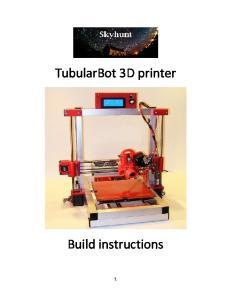 TubularBot 3D printer