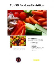 TUHSD Food and Nutrition