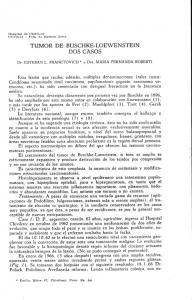 TUMOR DE BUSCHKE-LOEWENSTEIN DOS CASOS