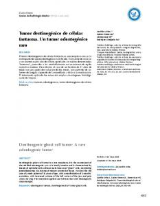 Tumor dentinogénico de células. fantasma. Un tumor odontogénico raro. Anales. Dentinogenic ghost cell tumor. A rare odontogenic tumor