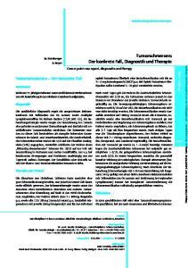 Tumorschmerzen: Der konkrete Fall, Diagnostik und Therapie
