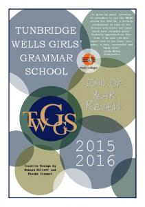 TUNBRIDGE WELLS GIRLS GRAMMAR SCHOOL