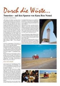 Tunesien auf den Spuren von Kara Ben Nemsi Text und Fotos Frank Hoffmann