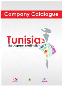 Tunisia. Company Catalogue. The Apparel Destination