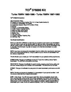 Turbo 700R Turbo 700R