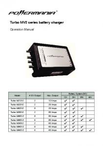 Turbo MV2 series battery charger