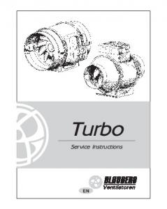 Turbo. Service Instructions