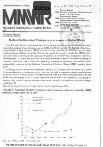 ture indicated that all reported MRSA problems in the United Statesnave