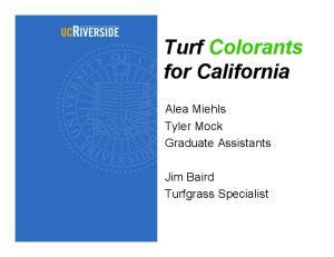 Turf Colorants for California