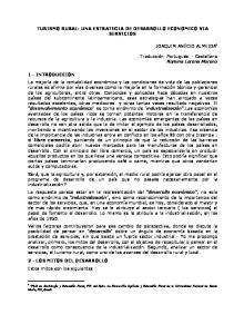 TURISMO RURAL: UNA ESTRATEGIA DE DESARROLLO ECONOMICO VIA SERVICIOS