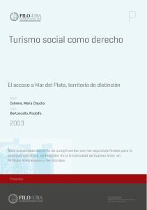 Turismo social como derecho