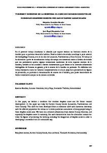 TURISMO Y RESERVAS DE LA BIOSFERA: EL CASO DE CANARIAS ORIENTALES