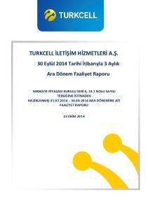 TURKCELL İLETİŞİM HİZMETLERİ A.Ş