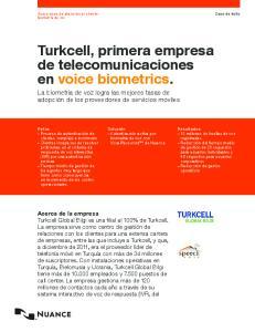 Turkcell, primera empresa de telecomunicaciones en voice biometrics