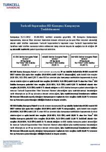 Turkcell Superonline HD Konuşma Kampanyası Taahhütnamesi