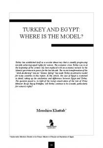 TURKEY AND EGYPT: WHERE IS THE MODEL?