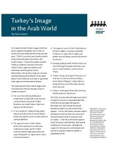 Turkey s Image in the Arab World