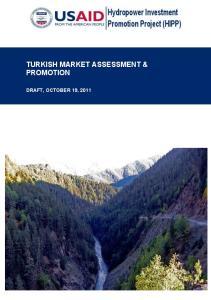 TURKISH MARKET ASSESSMENT & PROMOTION