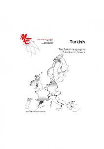 Turkish. The Turkish language in Education in Greece