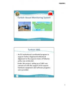 Turkish Vessel Monitoring System. Turkish VMS