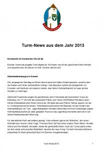 Turm-News aus dem Jahr 2013