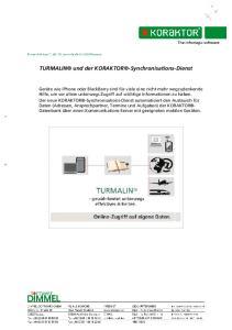 TURMALIN und der KORAKTOR -Synchronisations-Dienst