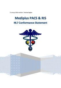 Turmap Information Technologies. Mediplus PACS & RIS. HL7 Conformance Statement