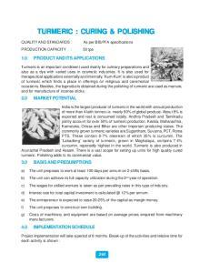 TURMERIC : CURING & POLISHING