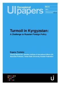 Turmoil in Kyrgyzstan: