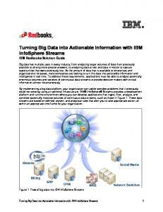 Turning Big Data into Actionable Information with IBM InfoSphere Streams IBM Redbooks Solution Guide
