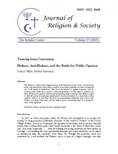 Turning from Conversion Shakers, Anti-Shakers, and the Battle for Public Opinion