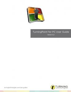 TurningPoint for PC User Guide