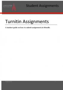 Turnitin Assignments