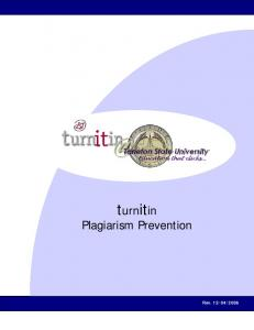 turnitin Plagiarism Prevention