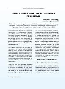 TUTELA JURIDICA DE LOS ECOSISTEMAS DE HUMEDAL
