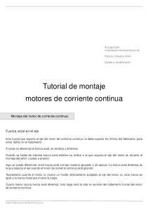 Tutorial de montaje motores de corriente continua