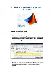 TUTORIAL INTRODUCTORIO DE MATLAB