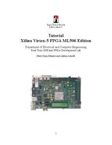 Tutorial Xilinx Virtex-5 FPGA ML506 Edition