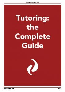 Tutoring: The Complete Guide