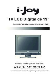 TV LCD Digital de 19