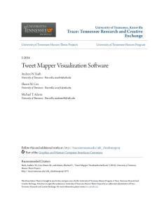 Tweet Mapper Visualization Software