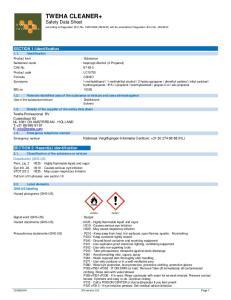 TWEHA CLEANER+ Safety Data Sheet