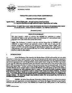 TWELFTH AIR NAVIGATION CONFERENCE