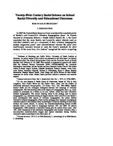 Twenty-First Century Social Science on School Racial Diversity and Educational Outcomes