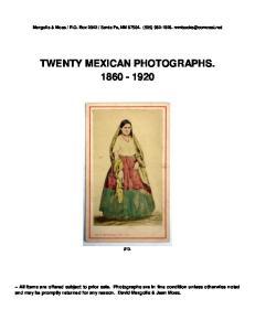 TWENTY MEXICAN PHOTOGRAPHS
